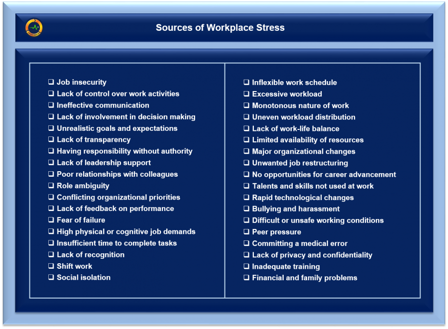 Sources of Workplace Stress